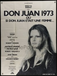 7y846 MS. DON JUAN French 1p 1973 great close up of sexy Brigitte Bardot, directed by Roger Vadim