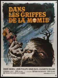 7y847 MUMMY'S SHROUD French 1p 1967 Hammer horror, best different monster art by Boris Grinsson!