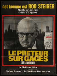 7y871 PAWNBROKER French 1p 1968 concentration camp survivor Rod Steiger, directed by Sidney Lumet!