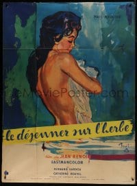 7y874 PICNIC ON THE GRASS French 1p 1959 Jean Renoir's Le dejeuner sur l'herbe, sexy nude art!