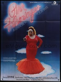7y875 PINK FLAMINGOS French 1p 1972 Divine, Mink Stole, John Waters' classic exercise in poor taste