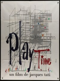 7y879 PLAYTIME French 1p 1967 Jacques Tati, great artwork by Baudin & Rene Ferracci!