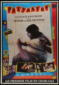 7y880 POLYESTER French 1p 1981 John Waters, wacky different artwork, filmed in Odorama!