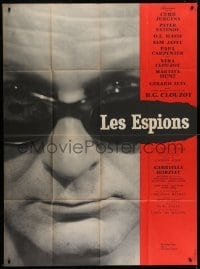 7y924 SPIES French 1p 1957 Henri-Georges Clouzot, different close up photo of Curt Jurgens!