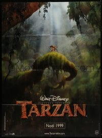 7y942 TARZAN teaser French 1p 1999 cool Walt Disney jungle cartoon, cool different far image!