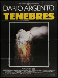 7y944 TENEBRE French 1p 1983 Dario Argento giallo, creepy image of bloody dead girl's head!