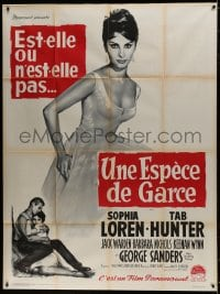 7y948 THAT KIND OF WOMAN French 1p 1960 full-length art of beautiful Sophia Loren by Roger Soubie!
