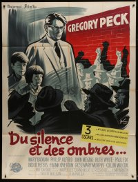 7y957 TO KILL A MOCKINGBIRD French 1p 1963 different Grinsson art of Gregory Peck, Harper Lee!