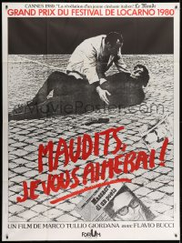 7y958 TO LOVE THE DAMNED French 1p 1981 Marco Tullio's Maledetti vi Amero, different image!