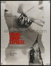 7y963 TRANS-EUROP-EXPRESS French 1p 1968 Jean-Louis Trintignant, Pisier, chained naked woman!
