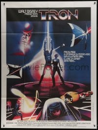 7y965 TRON French 1p 1982 Walt Disney sci-fi, Jeff Bridges in a computer, cool special effects!