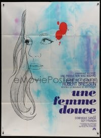 7y970 UNE FEMME DOUCE French 1p 1969 Robert Bresson's Une femme douce, wonderful art by Chica!