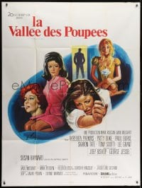 7y975 VALLEY OF THE DOLLS French 1p 1968 Sharon Tate, Jacqueline Susann, different Grinsson art!