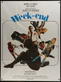 7y983 WEEK END French 1p 1968 Jean-Luc Godard, great montage with sexy Mireille Darc!