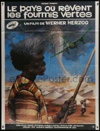 7y986 WHERE THE GREEN ANTS DREAM French 1p 1984 Werner Herzog, really cool Aborigine art by Bilal!