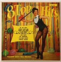 7y005 8 TOP HITS 33 1/3 RPM record 1952 sexy Julie Newmar, full dynamic range high fidelity!