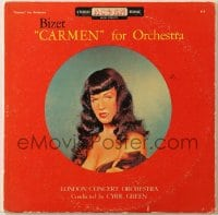 7y010 BETTIE PAGE 33 1/3 RPM record 1950s Bizet's Carmen for London Concert Orchestra!