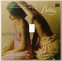 7y002 BILITIS 33 1/3 RPM soundtrack Canadian record 1977 Francis Lai's music from the movie!