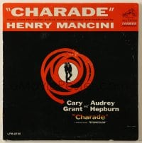 7y013 CHARADE 33 1/3 RPM soundtrack record 1963 music from the movie composed by Henry Mancini!