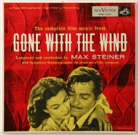 7y017 GONE WITH THE WIND 33 1/3 RPM soundtrack record 1954 film music composed by Max Steiner!
