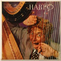 7y019 HARPO MARX 33 1/3 RPM record 1957 At the Harp With Orchestral Accompaniment!