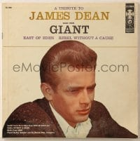 7y020 JAMES DEAN 33 1/3 RPM record 1957 A Tribute to James Dean, great close up on the cover!