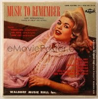 7y023 JAYNE MANSFIELD 33 1/3 RPM record 1950s Music to Remember, instrumentals by great orchestras!