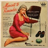 7y028 JAYNE MANSFIELD 33 1/3 RPM record 1958 Moments to Remember, lush intstrumental music!