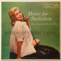 7y025 JAYNE MANSFIELD 33 1/3 RPM record 1956 on the cover of Henri Rene's Music For Bachelors!