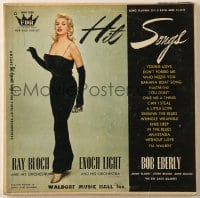 7y022 JAYNE MANSFIELD 33 1/3 RPM record 1950s Hit Songs by Ray Bloch, Enoch Light & Bob Eberly!