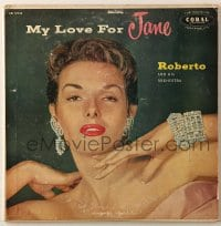 7y021 JANE RUSSELL 33 1/3 RPM record 1957 My Love For Jane by Roberto and His Orchestra!