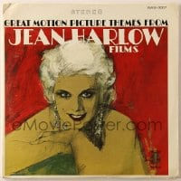 7y029 JEAN HARLOW 33 1/3 RPM soundtrack compilation record 1950s music from her movies, Deel art!