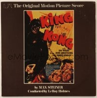 7y031 KING KONG 33 1/3 RPM soundtrack record 1975 great cover art from 1942 reissue one-sheet!