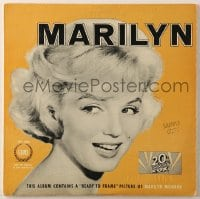 7y034 MARILYN MONROE 33 1/3 RPM record 1962 this album contains ready to frame 8x10 picture of her!