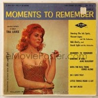 7y036 MOMENTS TO REMEMBER 33 1/3 RPM record 1950s sexy Tina Louise by Barry Kramer, volume 3!