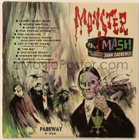 7y038 MONSTER MASH 33 1/3 RPM record 1962 great cover art featuring John Zacherle!