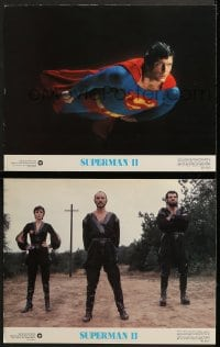 7z957 SUPERMAN II 2 color 11x14 stills 1981 best special effects scene with Christopher Reeve flying!