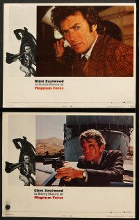 7z898 MAGNUM FORCE 2 LCs 1973 great images of Clint Eastwood as Dirty Harry, Hal Holbrook!
