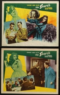 7z937 SEARCH 2 LCs 1948 Fred Zinnemann post-World War II refugee classic, young Montgomery Clift!