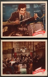 7z945 SMART POLITICS 2 LCs 1948 great image of Gene Krupa and His Orchestra performing on stage!
