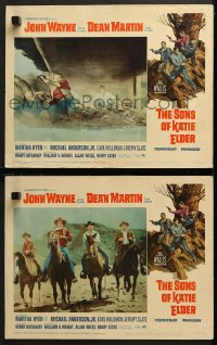 7z947 SONS OF KATIE ELDER 2 LCs 1965 cool images of cowboys John Wayne & Dean Martin!