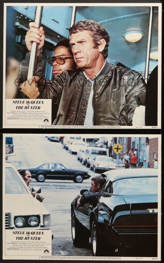 1 Of 7z872 Hunter 2 Lcs 1980 Bounty Steve Mcqueen Riding Subway And In Awesome Trans Am