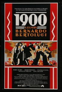 8a006 1900 1sh R1991 directed by Bernardo Bertolucci, Robert De Niro, cool Doug Johnson art!