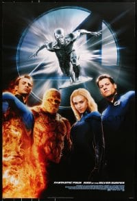 8a004 4: RISE OF THE SILVER SURFER style B DS 1sh 2007 Jessica Alba, Chiklis, Chris Evans!