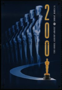 8a001 73RD ANNUAL ACADEMY AWARDS 1sh 2001 cool Alex Swart design & image of many Oscars!