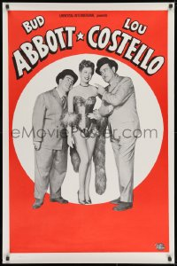 8a020 ABBOTT & COSTELLO STOCK 1sh 1950s cool stock poster of Bud & Lout + sexy showgirl!