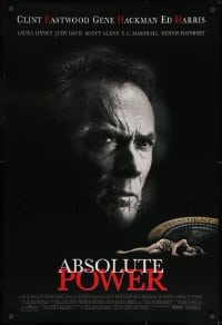 8a021 ABSOLUTE POWER DS 1sh 1997 great image of star & director Clint Eastwood!