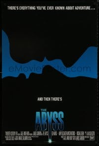 8a023 ABYSS int'l 27x28 1sh 1989 directed by James Cameron, Ed Harris, different silhouette art!
