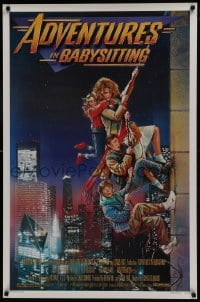 8a028 ADVENTURES IN BABYSITTING 1sh 1987 artwork of young Elisabeth Shue by Drew Struzan!