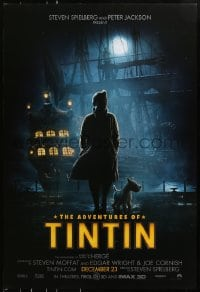 8a029 ADVENTURES OF TINTIN teaser DS 1sh 2011 Spielberg's version of the Belgian comic!